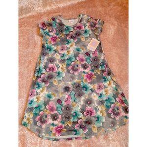 LuLaRoe Watercolor Floral Scarlett Swing Dress